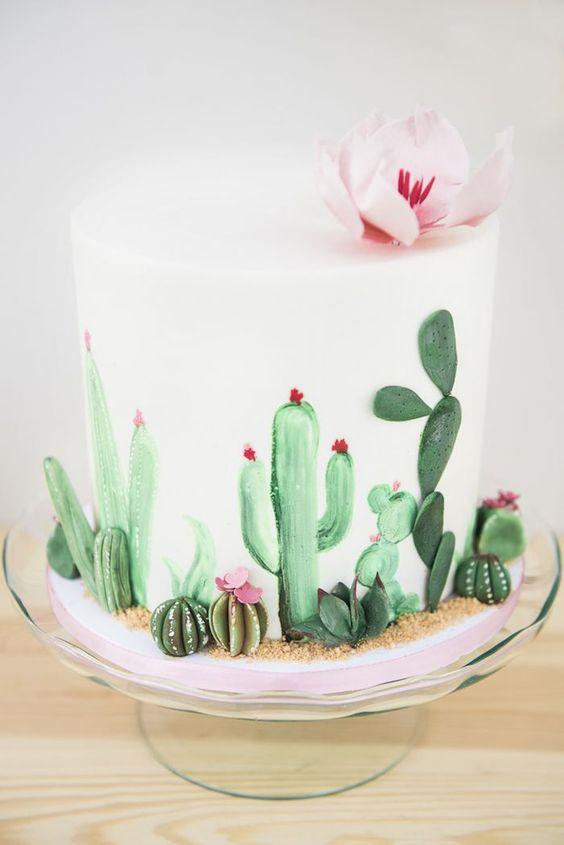 festa cactos bolo decorado 1