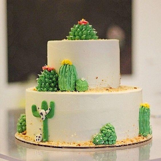 festa cactos bolo decorado 2