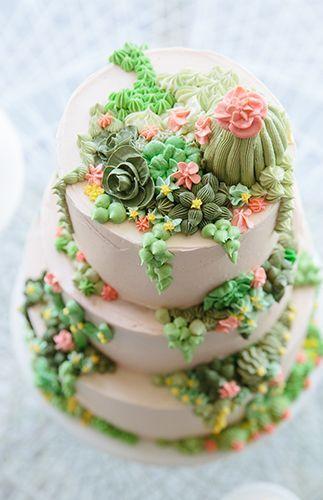 festa cactos bolo decorado