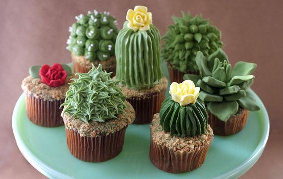 festa cactos cupcakes