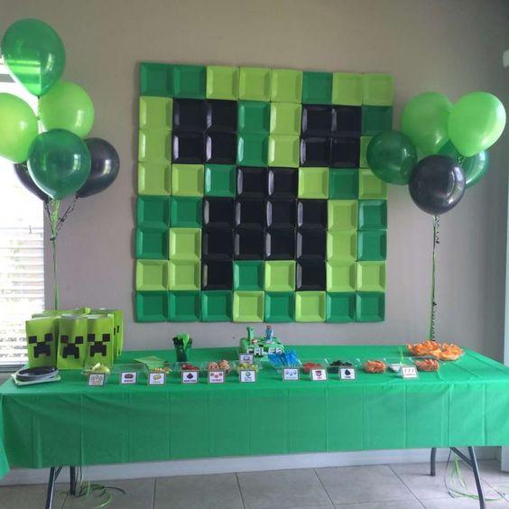 festa tema minecraft decoracao