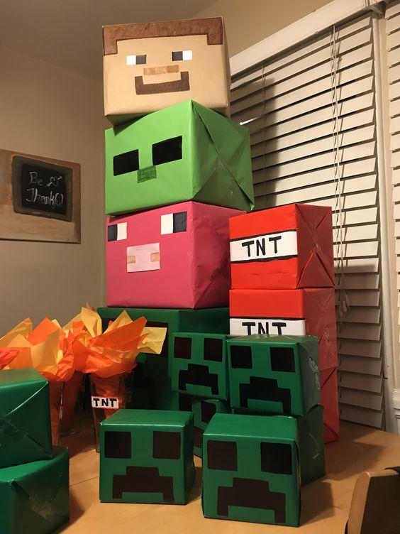 festa tema minecraft diy
