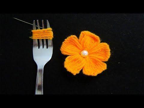 flor croche garfo 8