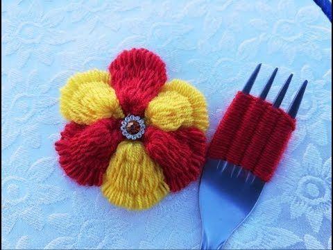 flor croche garfo 9