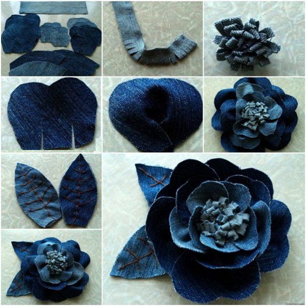 flor jeans velhos tutorial