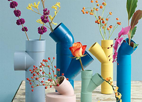 floreiras tubos pvc