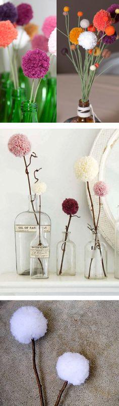 flores de pompons