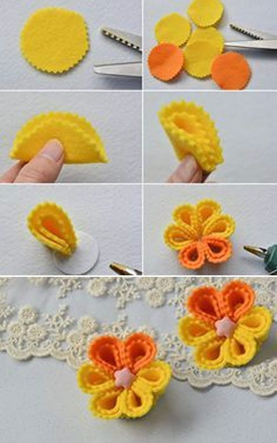 flores feltro diy 2