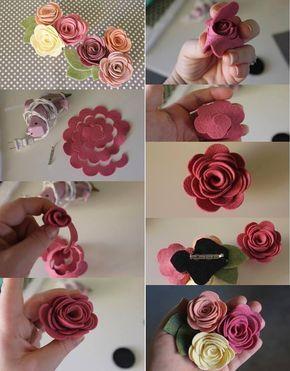 flores feltro diy 5