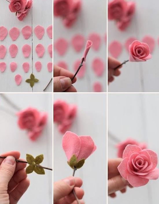 flores feltro diy 6