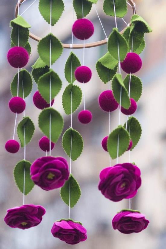 flores feltro ideias 1