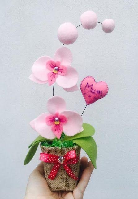 flores feltro ideias 2