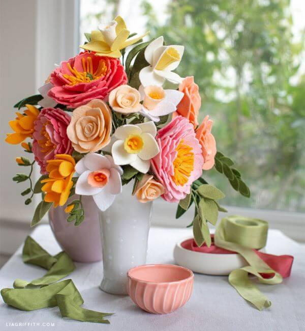 flores feltro ideias 4