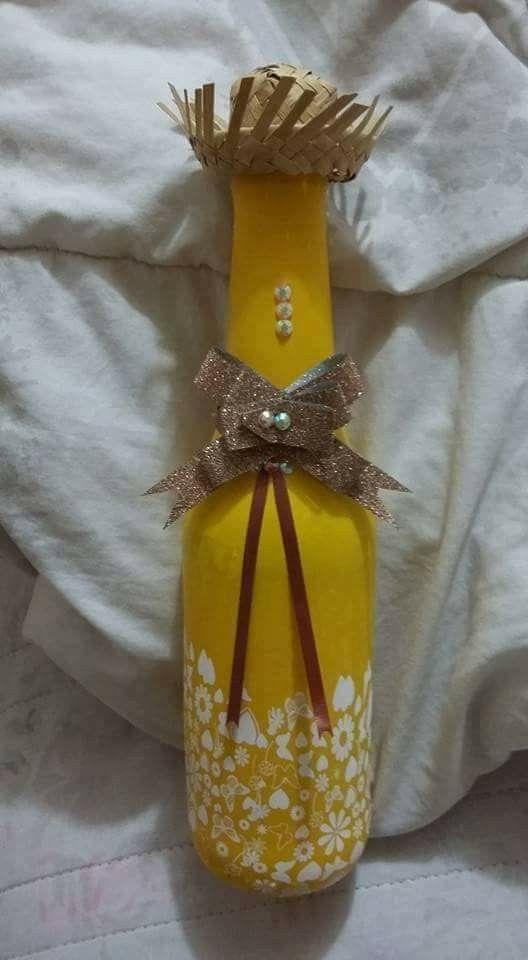 garrafa decorada festa junina 4