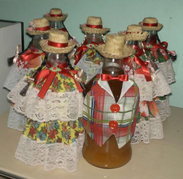 garrafa decorada festa junina ideias