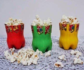 garrafa pet decorada festa junina ideias
