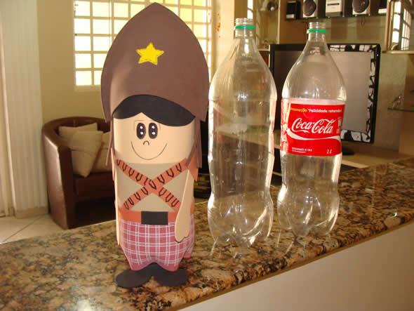 garrafa pet decorada festa junina