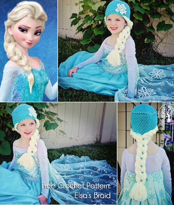 gorro crochet frozen