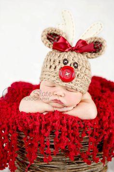 gorro crochet natal