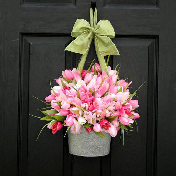 guirnalda pascoa flores