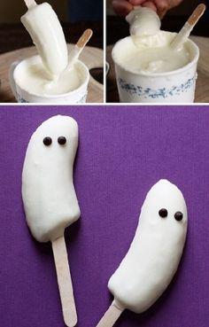 halloween bananas fantasmas