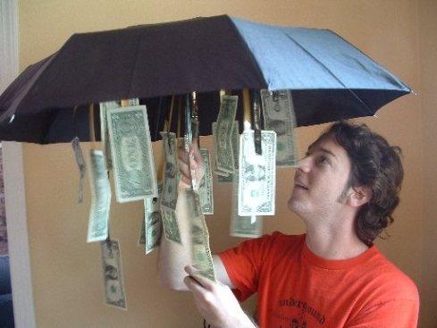 ideia original de oferecer dinheiro