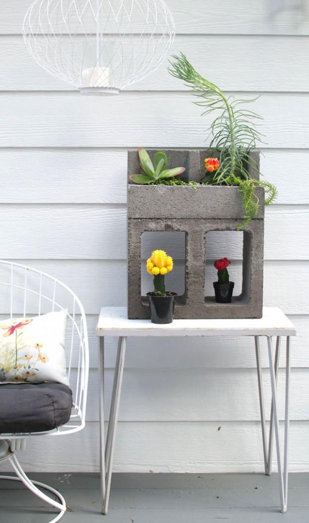 ideias concreto decoracao vaso