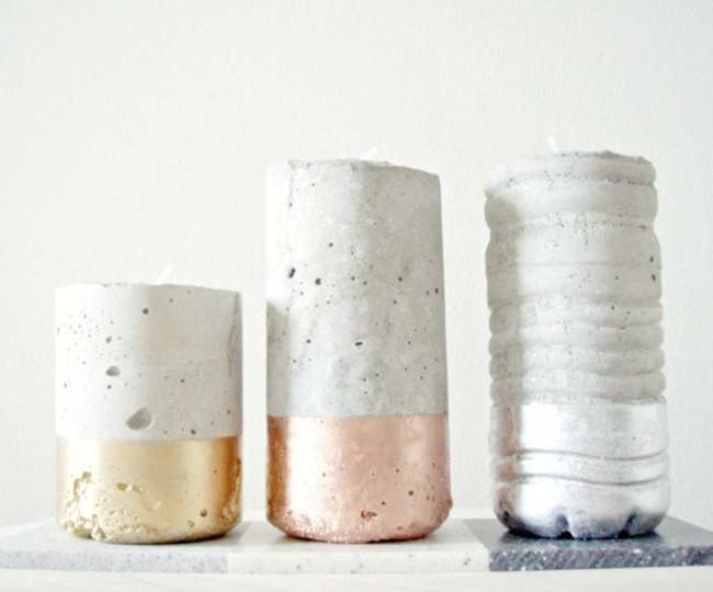 ideias concreto decoracao velas 1