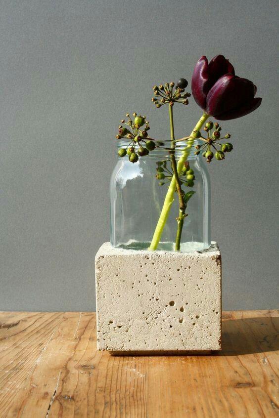 ideias concreto decoracao vidro