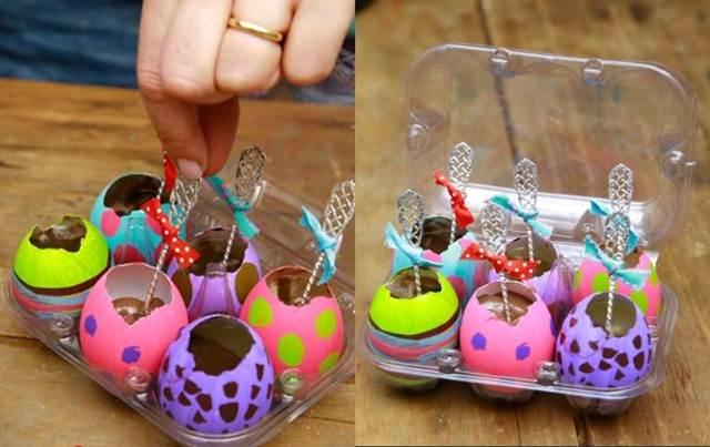 ideias criativas baratas ovos pascoa 1