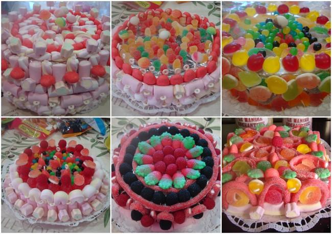 ideias de bolos de gomas