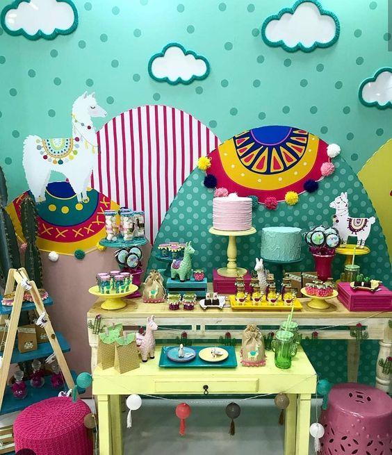 ideias decoração festa llama 1