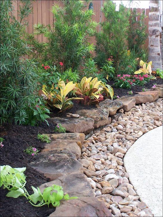 ideias decoraçao jardim pedra
