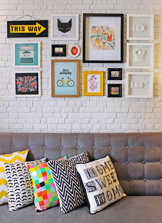 ideias decoraçao paredes com quadros