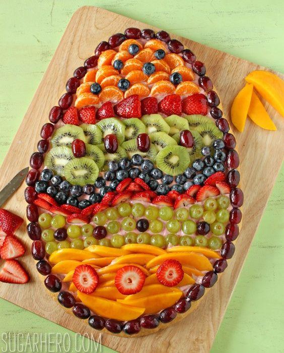 ideias decoraçao pascoa fruta