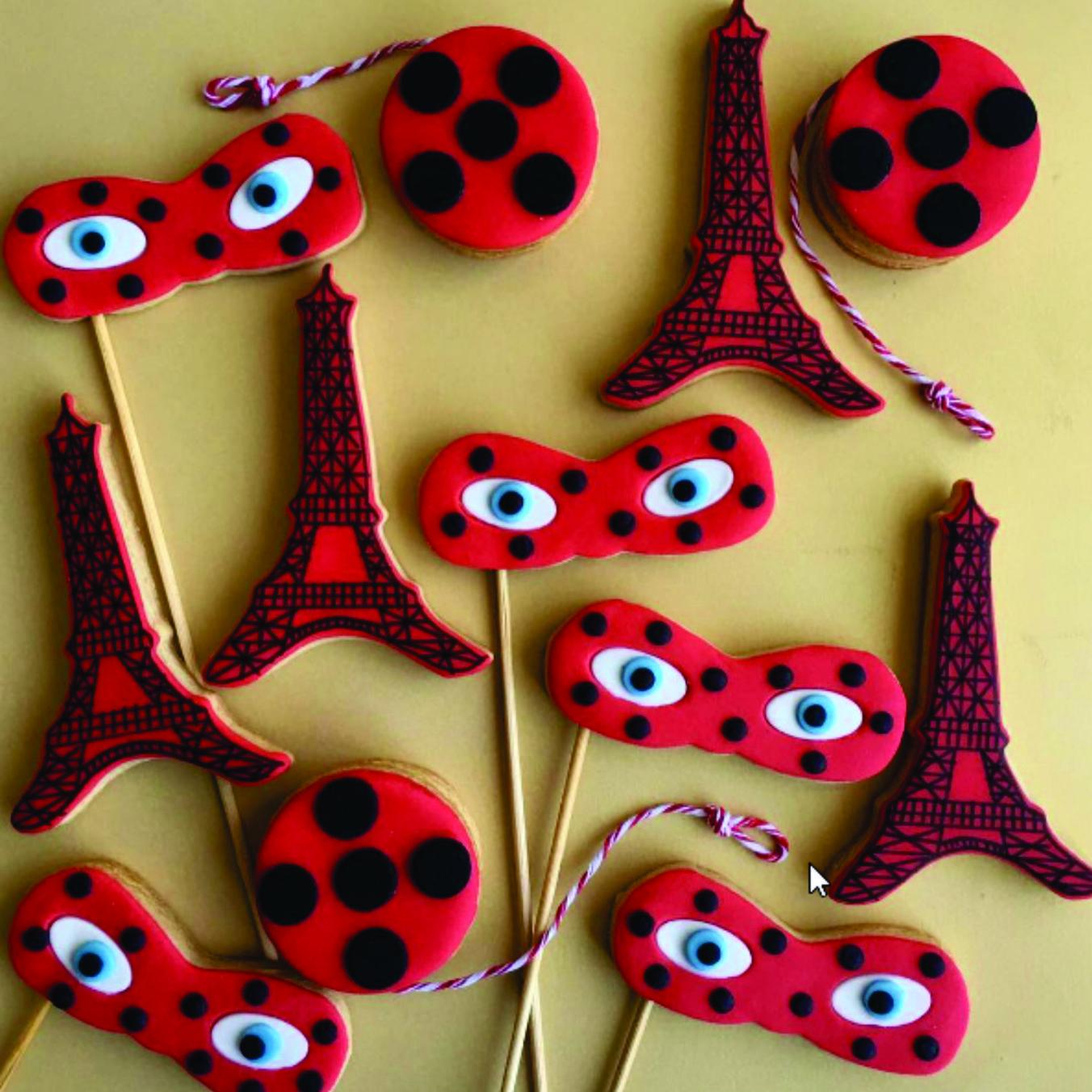 ideias decoracao festa ladybug bolachas decoradas