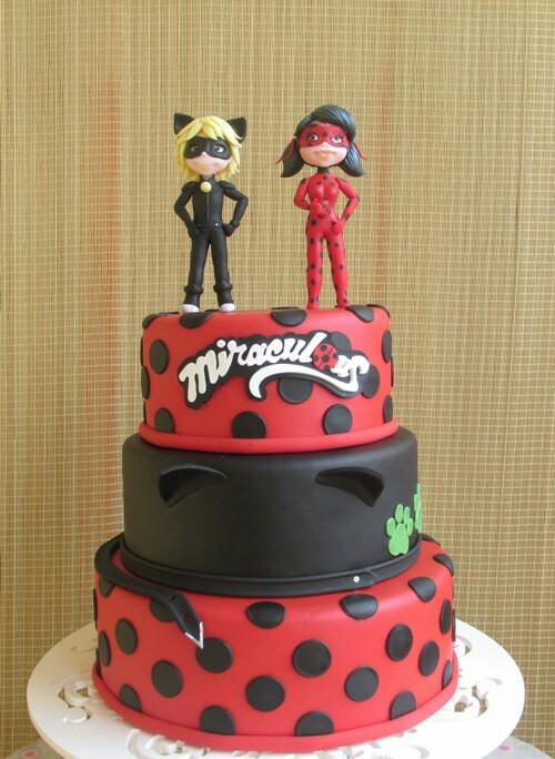 ideias decoracao festa ladybug bolo decorado