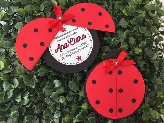 ideias decoracao festa ladybug convites