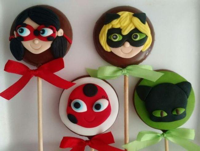ideias decoracao festa ladybug pirulitos
