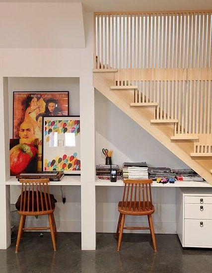 ideias decorar vao escadas escritorio 1