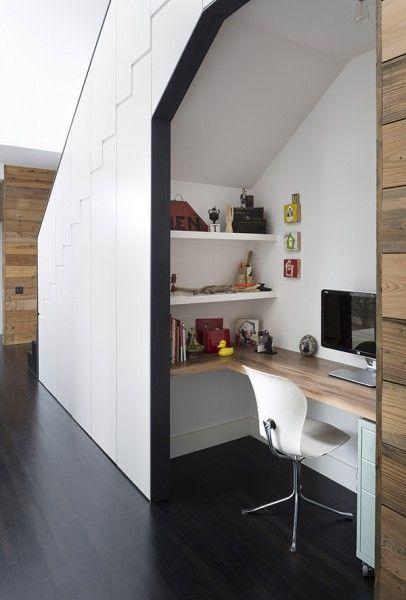 ideias decorar vao escadas escritorio