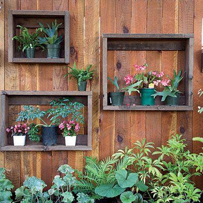ideias diy jardim vertical