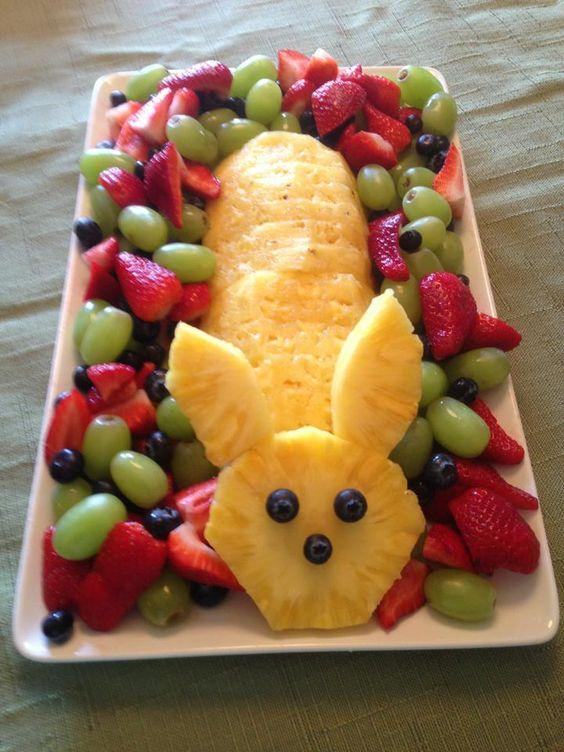 ideias giras para servir fruta pascoa