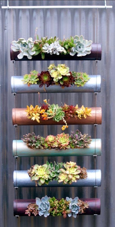 ideias jardim vertical suspenso