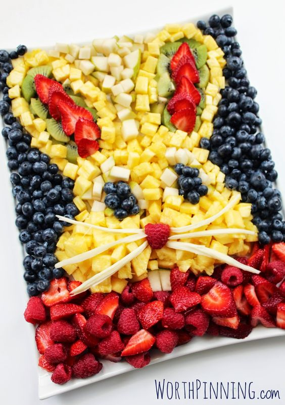 ideias servir fruta