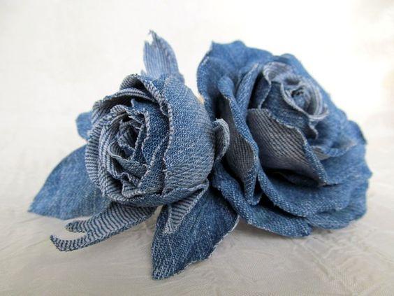 ideias usar flores jeans ideias