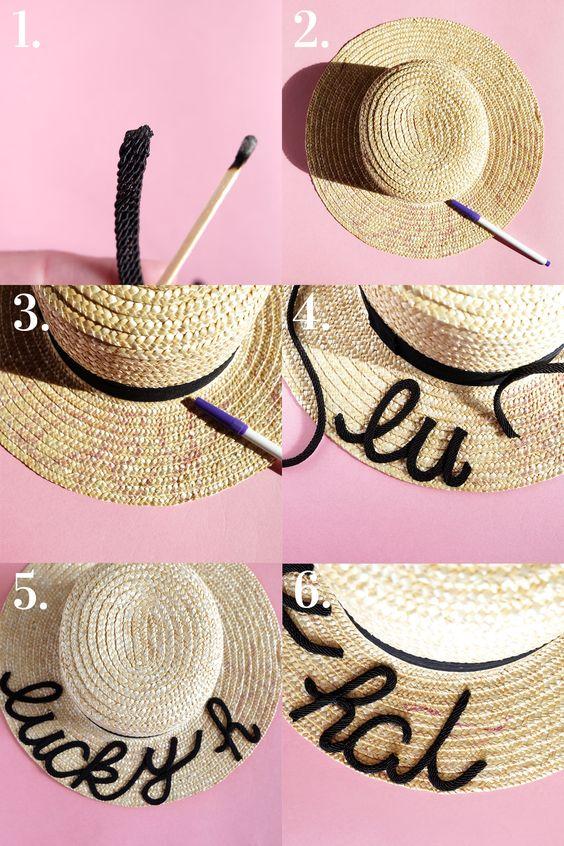 ideias.personalizar chapeu palha 9