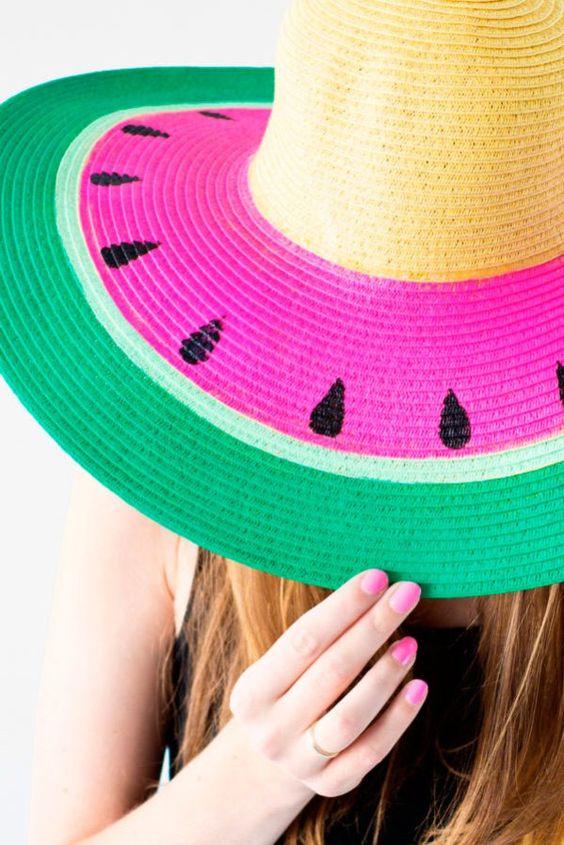 ideias.personalizar chapeu palha carnaval 1