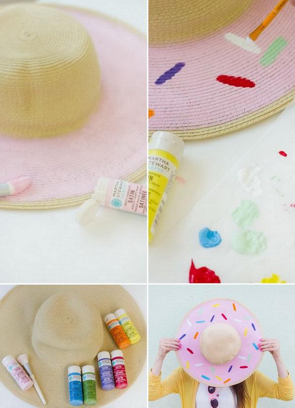 ideias.personalizar chapeu palha carnaval 5
