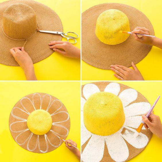 ideias.personalizar chapeu palha carnaval